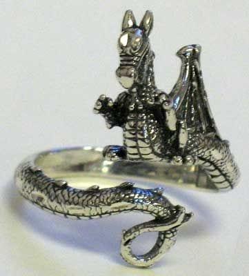 Beautiful Dragon Adjustable Ring